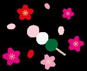 花見団子とさくらのイラスト