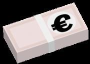 ユーロの札束