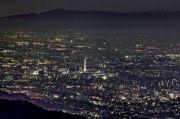 比叡山山頂からの街の夜景