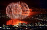 比叡山山頂からの琵琶湖花火