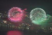 比叡山山頂からの琵琶湖花火大会