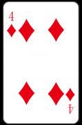 ダイヤの「4」:トランプ
