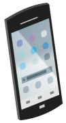 黒のスマートフォン