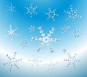 雪の結晶の水色