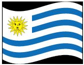 ウルグアイ東方共和国の波打つ国旗