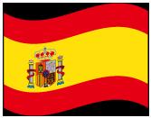 スペインの波打つ国旗