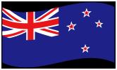 ニュージーランドの波打つ国旗