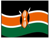 ケニア共和国の波打つ国旗